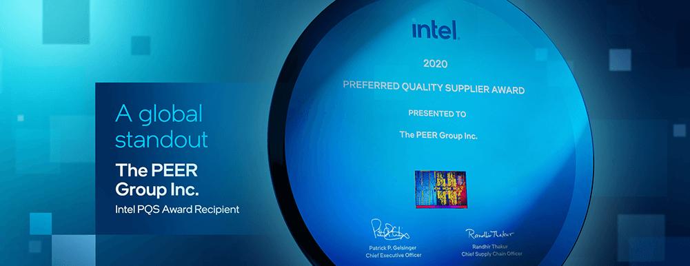 Intel's 2020 PQS award for PEER Group